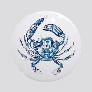 coastal nautical beach crab Round Ornament